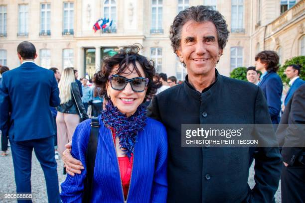 Former french Culture minister and founder of the 'Fete de la Musique' Jack Lang poses with his wife Monique during the annual 'Fete de la Musique'...