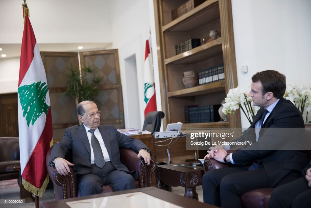 Former French Economy and Industry Minister Emmanuel Macron On A Two Day Visit In Lebanon : Nieuwsfoto's