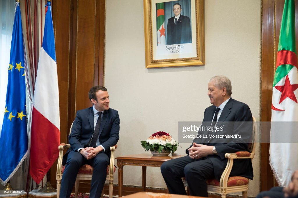French Presidential Candidate Emmanuel Macron Visits Algiers