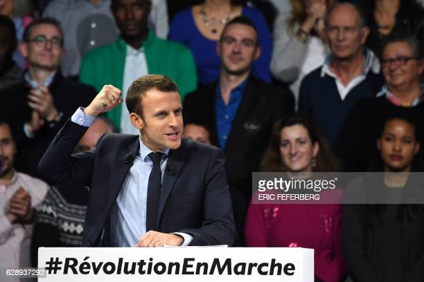 Former French Economy Minister founder and president of the political movement 'En Marche ' and candidate for the 2017 presidential elections...