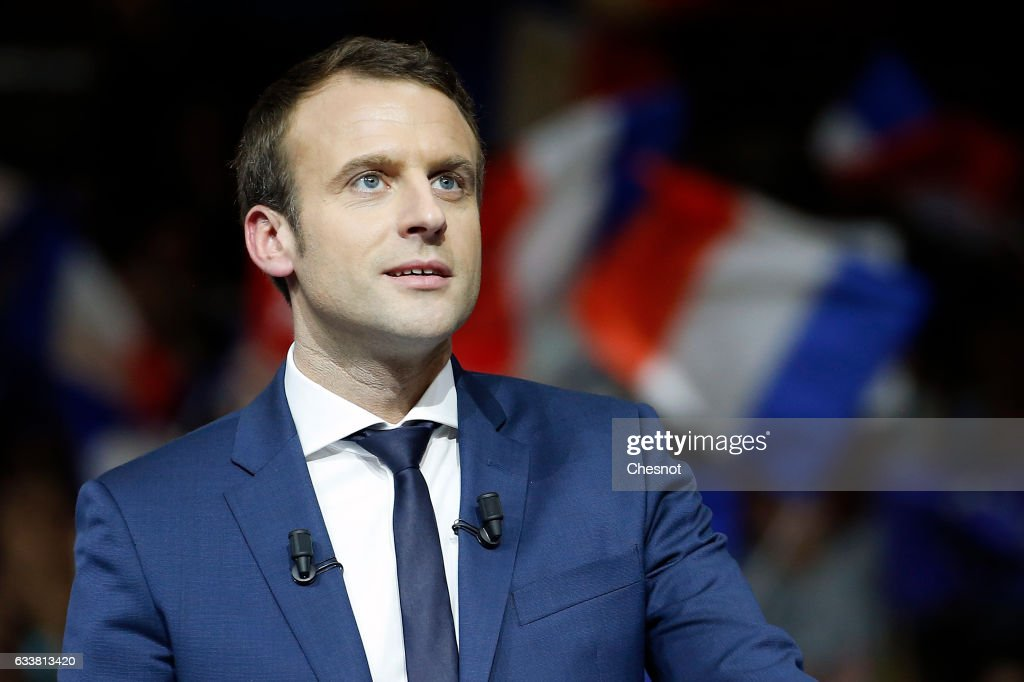 "Former Economy Minister & ""En Marche"" Candidate  Emmanuel Macron  Gives a Meeting Ahead France's Presidential Elections In Lyon"