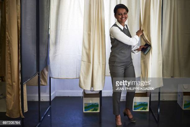 Former French Education minister and Socialist party candidate for the second roundof the parlamentiary elections in the Rhone region Najat...
