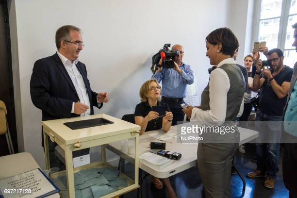 Former French Education minister and Socialist party candidate for the second round of the parlamentiary elections in the Rhone region Najat...