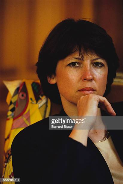 Former French employment minister Martine Aubry in her office at the cabinet in Paris on May 24 1991