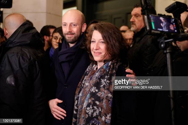 Former French Health Minister Agnes Buzyn poses for pictures with general delegate of La Republique En Marche centreright ruling party Stanislas...