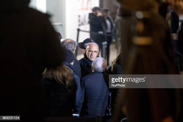 Former French Interior Minister Bernard Cazeneuve takes part in the gathering organized by the Representative Council of France's Jewish Associations...