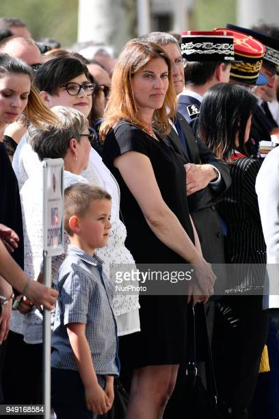 Former French Junior Minister for Victims Aid Juliette Meadel is seen during tribute on Friday 20 April 2018 to the Police Captain Mr Xavier Jugélé...