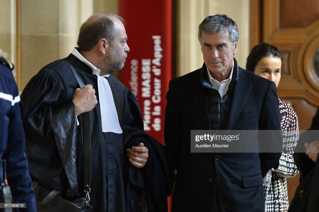 France's Former Budget Minister Jerome Cahuzac Arrives For Trial At The Paris Court House