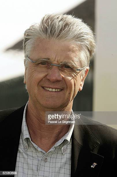 Former French national football team trainer Aime Jacquet is seen at the 2nd Doha International Grand Prix on January 29 2005 in Qatar