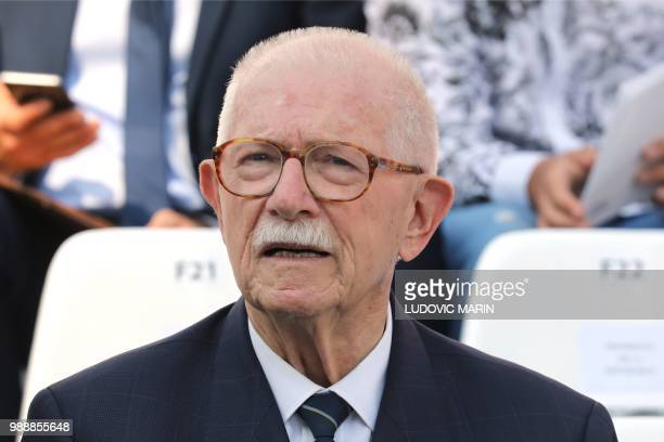 Former French politician JeanPierre Fourcade attends the burial ceremony for former French politician and Holocaust survivor Simone Veil at the...
