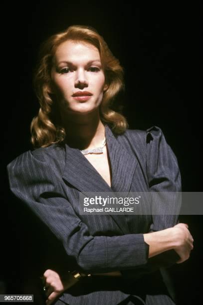 Former French Porn Actress Brigitte Lahaie Paris March 27 1987