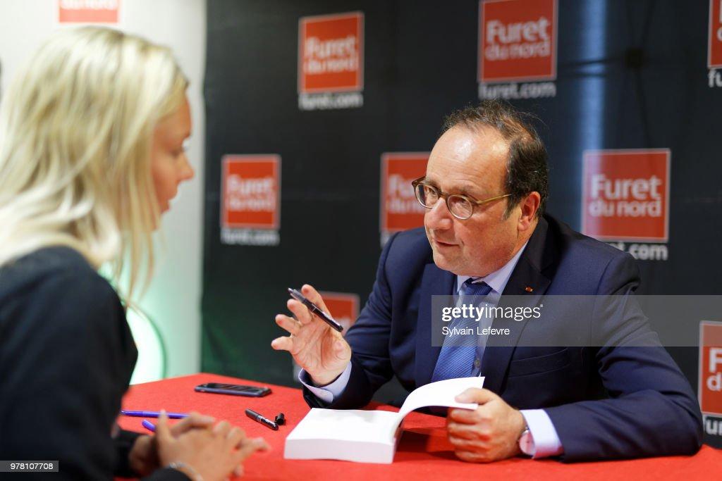 Former French President Francois Hollande Visits Lille