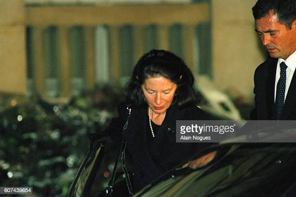 Former French President François Mitterrand died in Paris on 8 January 1996 at the age of 79 Pictured his mistress Anne Pingeot mother of their...