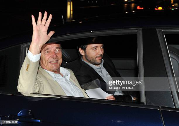 Former French president Jacques Chirac gestures as he arrives at his Paris apartment on October 31 2009 Chirac will be the first former French...