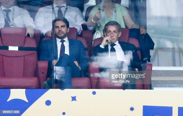 Former French President Nicolas Sarkozy during the 2018 FIFA World Cup Russia Final match between France and Croatia at Luzhniki Stadium on July 15...