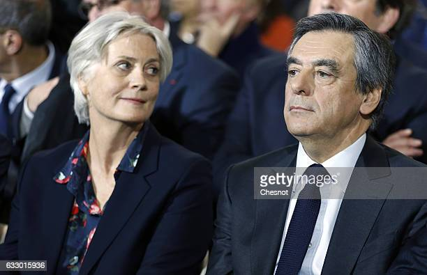 Former French prime minister and member of rightwing political party 'Les Republicains' Francois Fillon and his wife Penelope Fillon attend a...