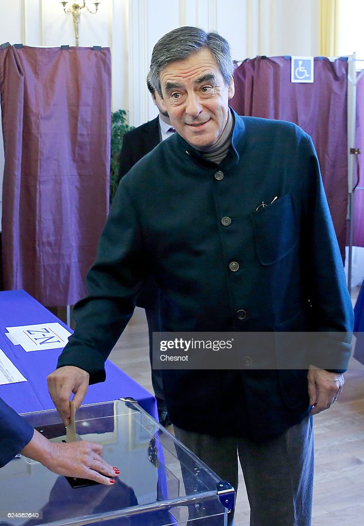 Francois Fillon Votes For 1st Right-Wing Primary Ahead Of The 2017 Presidential Election At In Paris