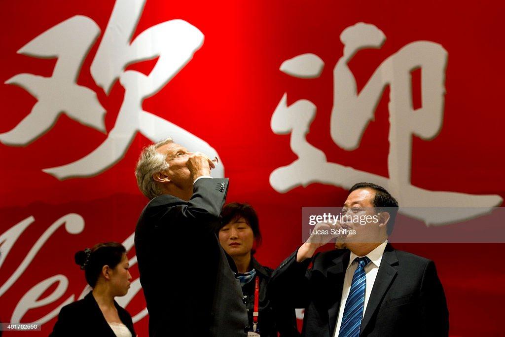 Former French Premier Dominique de Villepin visits China : News Photo