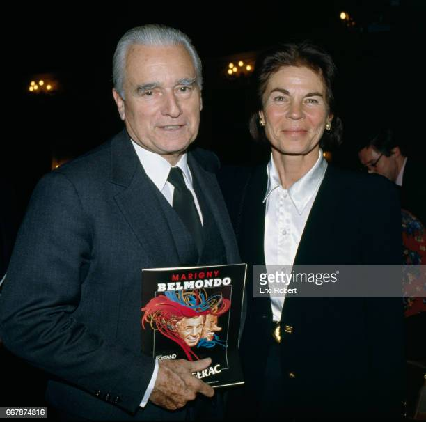Former French prime minister Jacques ChabanDelmas and his wife Micheline attend opening night of the play Cyrano de Bergerac directed by Robert...