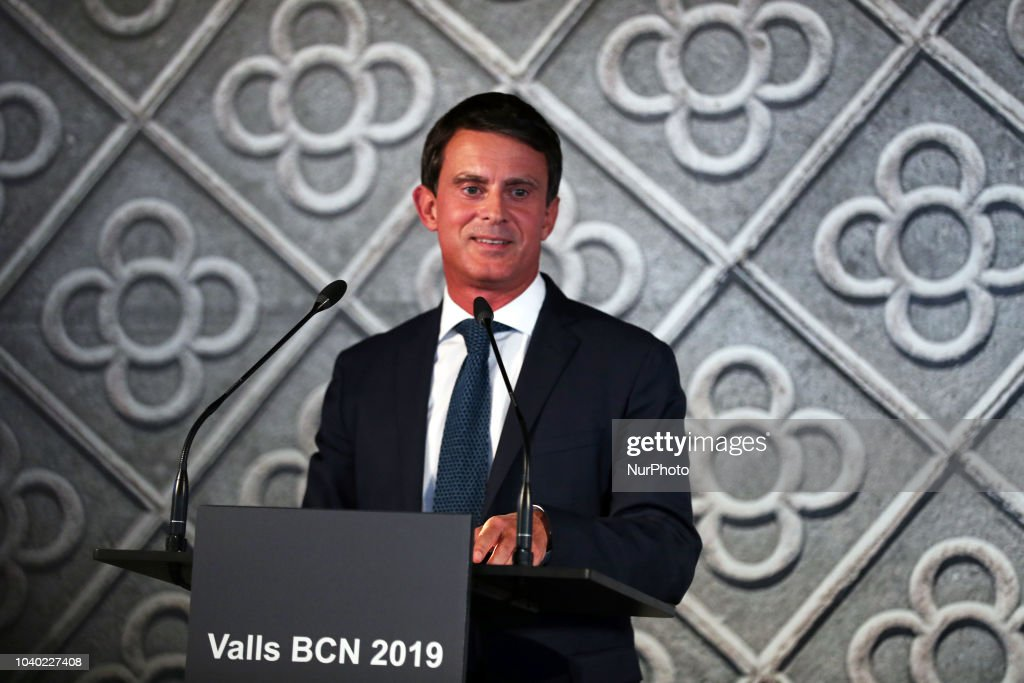 Manuel Valls Announces Candidacy To Be Mayor Of Barcelona : News Photo