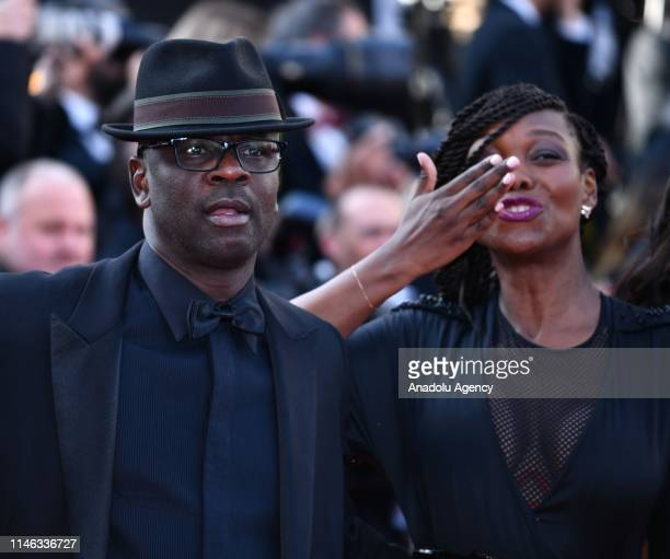 Former French soccer player Lilian Thuram and his family arrive for the Closing Awards Ceremony of the 72nd annual Cannes Film Festival in Cannes...