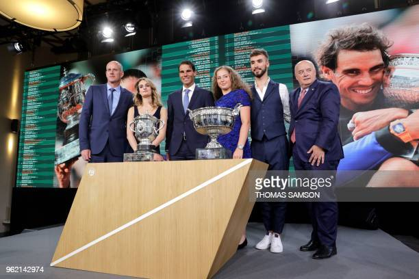 Former French tennis player and current director of the Roland Garros French tennis open Guy Forget French Ice Dancer Gabriella Papadakis Spanish...