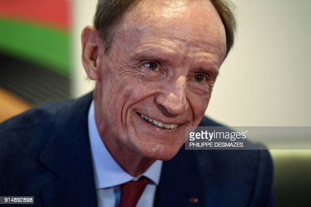 Former French World Cup alpine skier JeanClaude Killy speaks during an AFP interview to present an exhibition on the Grenoble's Winter Olympic Games...