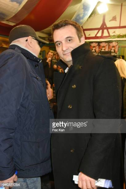 former Front National deputy Florian Philippot attends the Foire du Trone Opening At Pelouse de Reuilly on March 30 2018 in Paris France