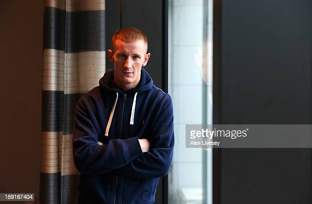 Former GB Olympic boxer Tom Stalker poses for a portrait after a press conference where he was unveiled as the latest boxer to be signed up to the...