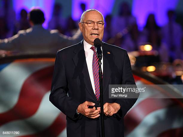 Former Gen. Colin Powell onstage at A Capitol Fourth concert at the U.S. Capitol, West Lawn, on July 4, 2016 in Washington, DC.