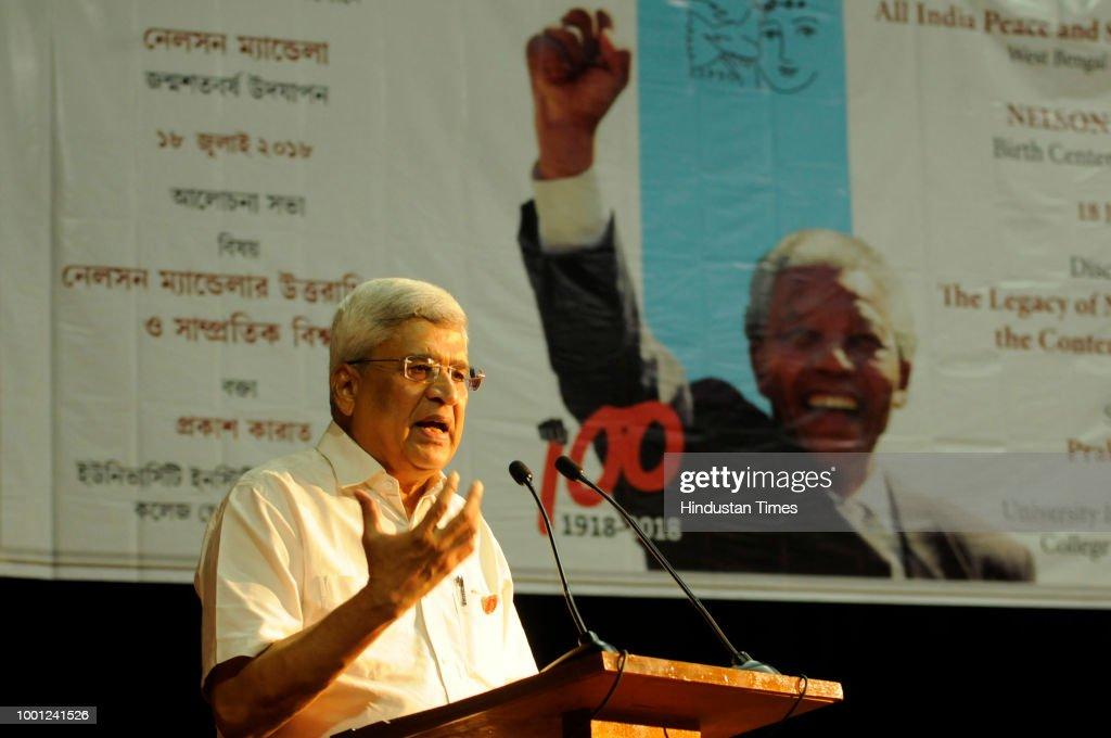 CPI Leader Prakash Karat Address Nelson Mandela Lecture In Kolkata