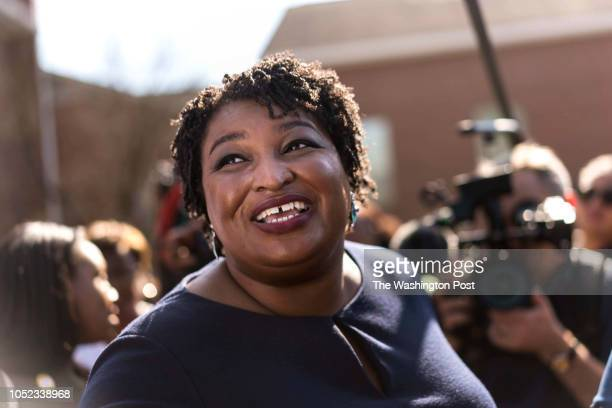 MACON GEORGIA Former Georgia House Democratic Leader and Democratic nominee for Georgia Governor Stacey Abrams begins campaigning across the state on...
