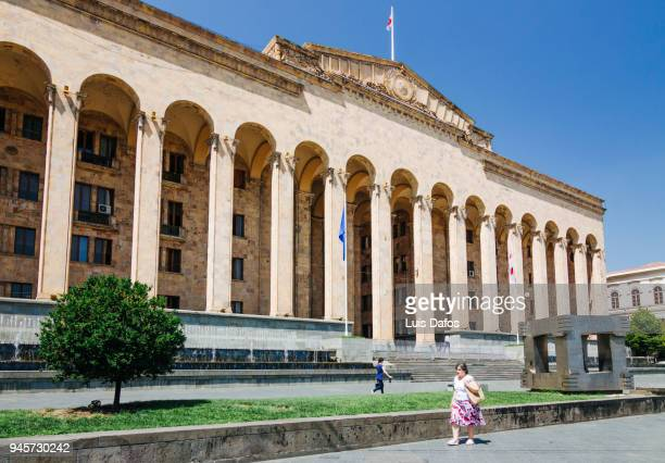 former georgian parliament building. - dafos stock photos and pictures