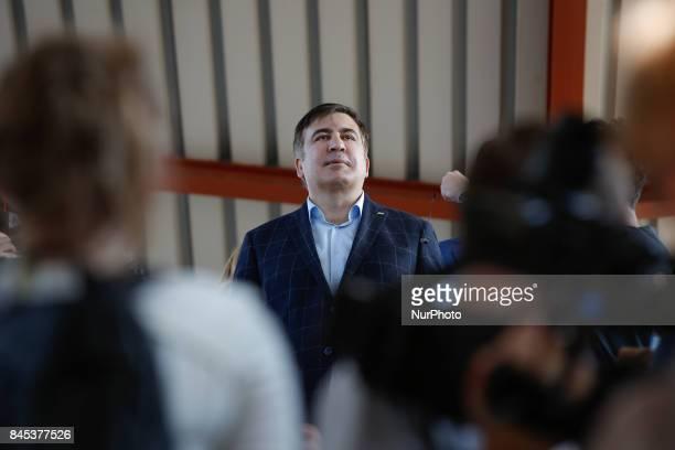 Former Georgian president Miheil Saakashvili is seen at Przemysl train station on 10 September 2017 ahead of an attempt by him to reenter Ukraine...