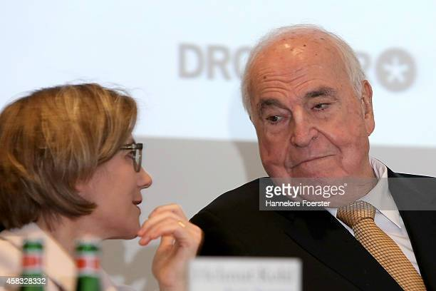 """Former German Chancellor Helmut Kohl and his wife Maike Richter-Kohl attend the presentation of his new book: """"Aus Sorge Um Europa"""" at Villa Kennedy..."""