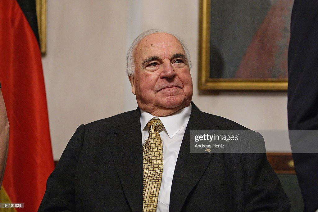 Former German Chancellor Helmut Kohl attends a private dinner at Bellevue Pallace on December 8, 2009 in Berlin, Germany. German President Horst Koehler honored Kohl for the lifework of the former German chancellor. Kohl will celebrate his 80th birthday on April 3, 2010.