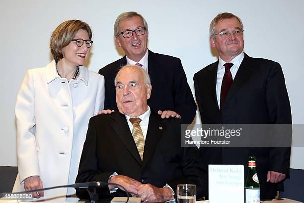 Former German Chancellor Helmut Kohl, his wife Maike Richter-Kohl, eulogist Jean-Claude Juncker , president European Commission, and Droemer Knaur...