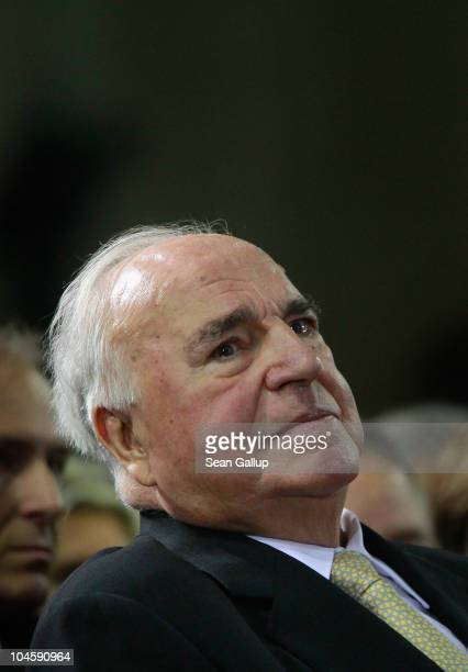 Former German Chancellor Helmut Kohl whose initiatives made German reunification in 1990 possible attends a celebration of the German Christian...