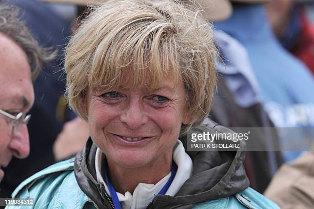 Former German dressage champion AnnKathrin Linsenhoff attends the Grand Prix CDIO Prize of the TESCHINKASSO of the CHIO Riding Tournament in Aachen...