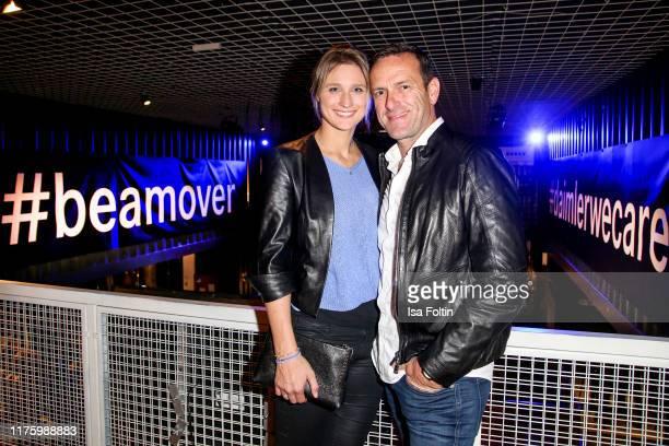 "Former German fenching olympic gold medalist Britta Heidemann and German acrobatic flight champion Matthias Dolderer attend the Daimler event ""Be a..."