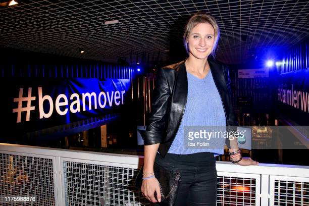 """Former German fencing Olympic Gold Medalist Britta Heidemann attends the Daimler event """"Be a Mover"""" at BRLO on October 14, 2019 in Berlin, Germany."""