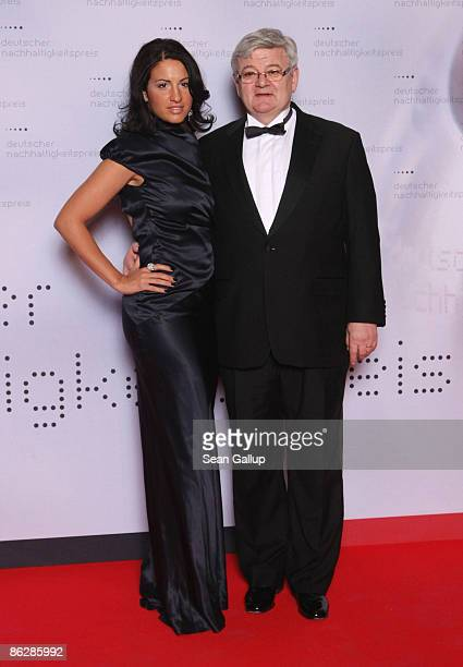 Former German Foreign Minister Joschka Fischer and his wife Minu BaratiFischer attend the Sustainability Award 2009 at the German Historical Museum...