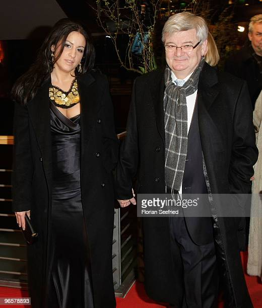 Former German Foreign Minister Joschka Fischer and his wife Minu BaratiFischer attend the 'Tuan Yuan' Premiere during day one of the 60th Berlin...