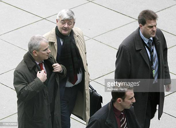 Former German Foreign Minister Joschka Fischer arrives for an opening session of Bundestag hearings on Germany's Iraq war involvement and related...