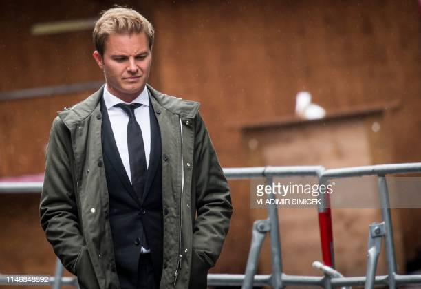 Former German Formula One racing driver Nico Rosberg arrives at St Stephen's Cathedral in Vienna for the funeral ceremony of former Formula One...