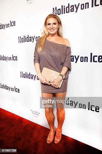 Former german gymnast Magdalena Brzeska attends the 'Holiday on Ice' gala at Hotel Atlantic on October 19, 2016 in Hamburg, Germany.