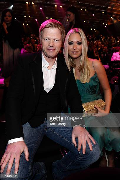 Former German national goal keeper Oliver Kahn and new girlfriend Svenja attend the Echo Award 2010 at Palais am Funkturm on March 4 2010 in Berlin...