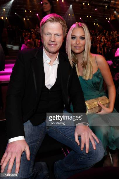 Former German national goal keeper Oliver Kahn and new partner Svenja attend the Echo Award 2010 at Palais am Funkturm on March 4 2010 in Berlin...