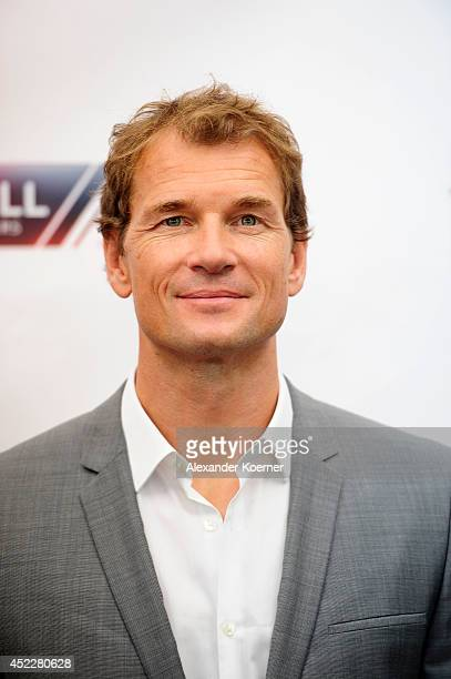 Former german national soccer goalkeeper Jens Lehmann attends the offical Television programmpreview of german television production RTL on July 17...