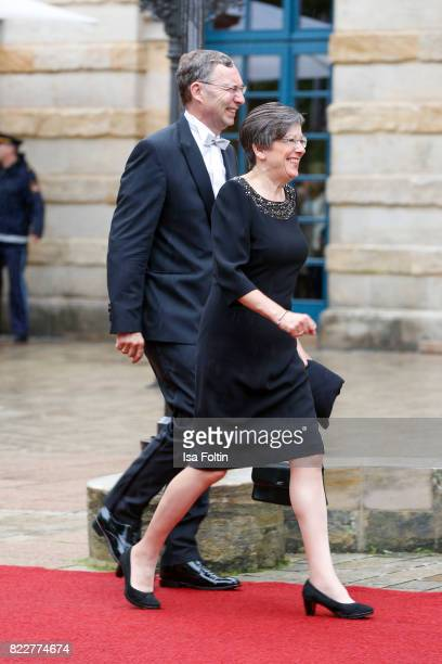 Former German president Horst Koehler and his wife Eva Luise Koehler attend the Bayreuth Festival 2017 Opening on July 25 2017 in Bayreuth Germany